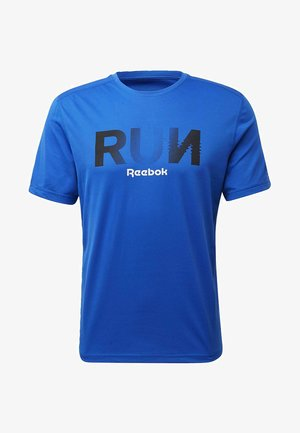 RUNNING ESSENTIALS GRAPHIC TEE - T-Shirt print - blue
