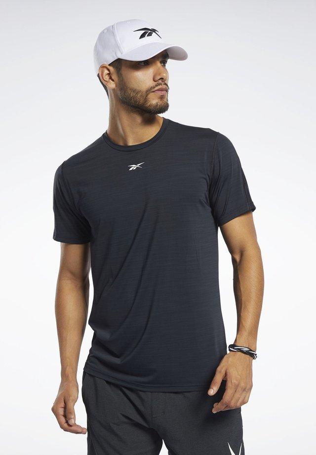 ACTIVCHILL MOVE TEE - T-shirt z nadrukiem - black