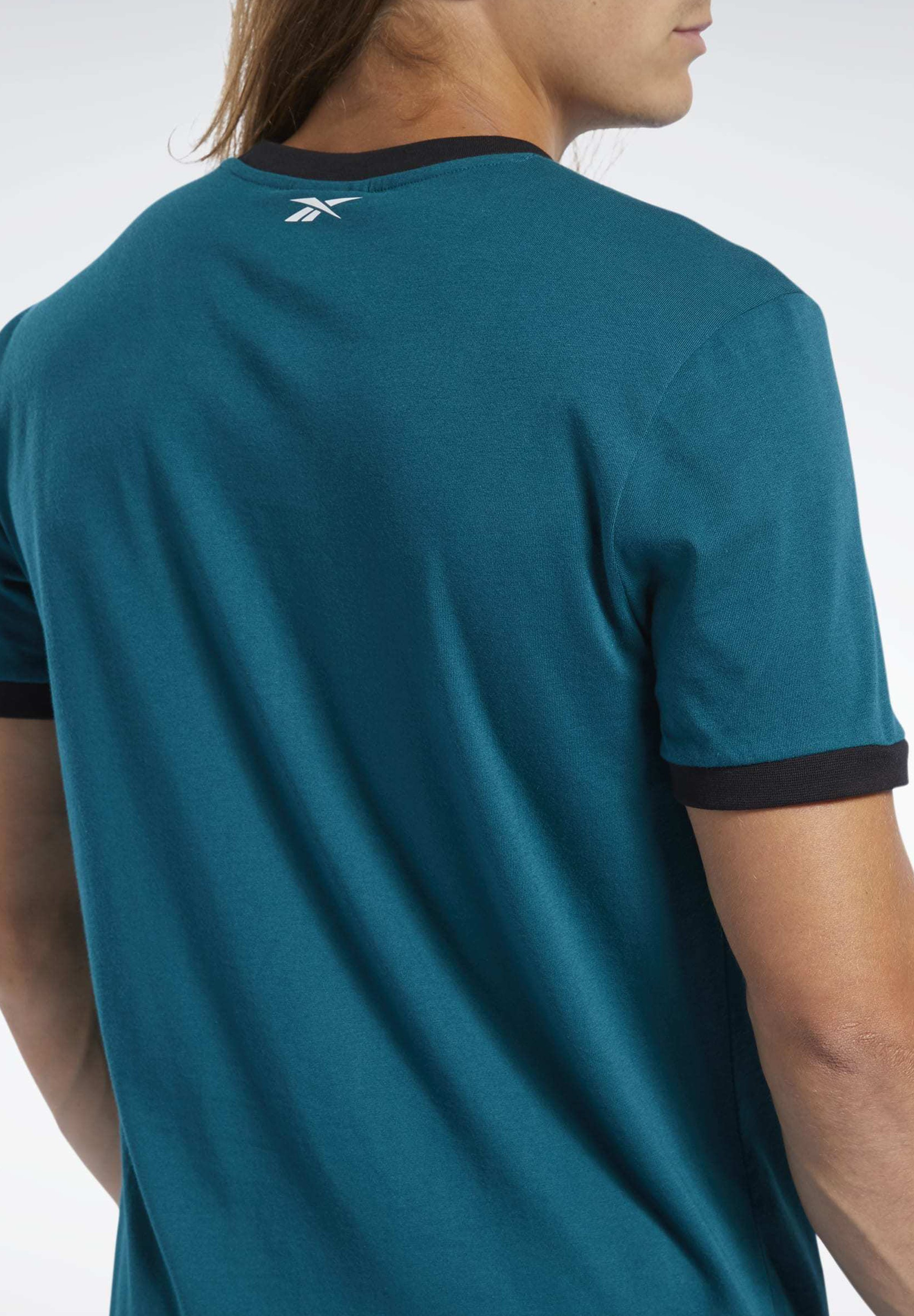 Reebok TRAINING ESSENTIALS LINEAR LOGO TEE - T-shirt con stampa - heritage teal