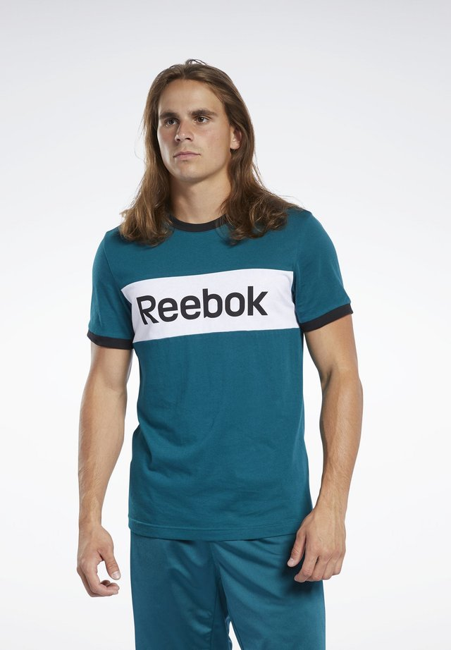 TRAINING ESSENTIALS LINEAR LOGO TEE - T-shirts print - heritage teal