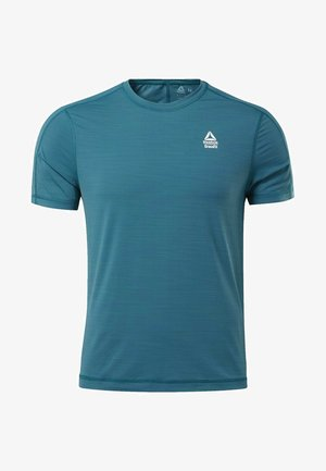 REEBOK ACTIVCHILL TEE - T-shirt med print - heritage teal