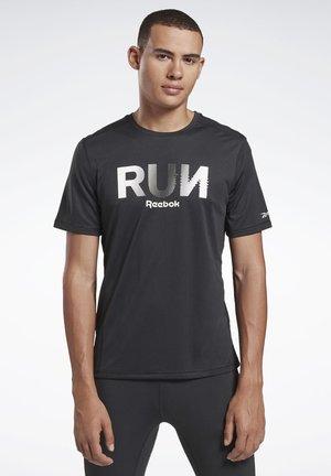 RUNNING ESSENTIALS GRAPHIC TEE - T-shirt con stampa - black