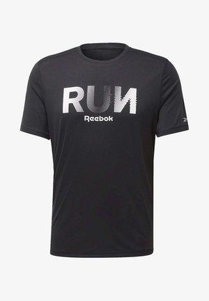 RUNNING ESSENTIALS GRAPHIC TEE - T-shirt z nadrukiem - black