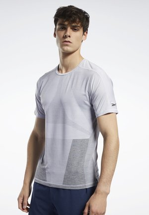 UNITED BY FITNESS ACTIVCHILL VENT TEE - Printtipaita - sterling grey
