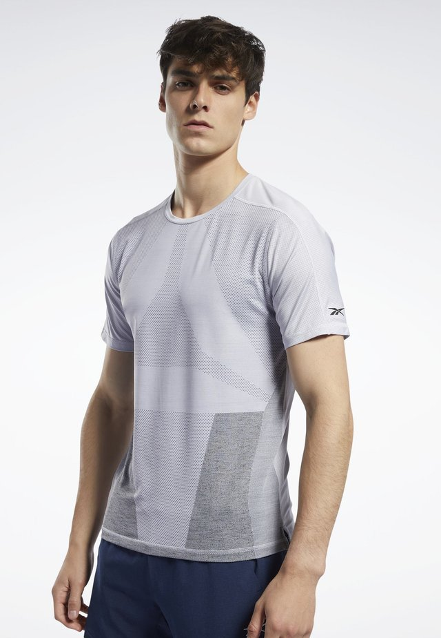UNITED BY FITNESS ACTIVCHILL VENT TEE - T-shirt print - sterling grey