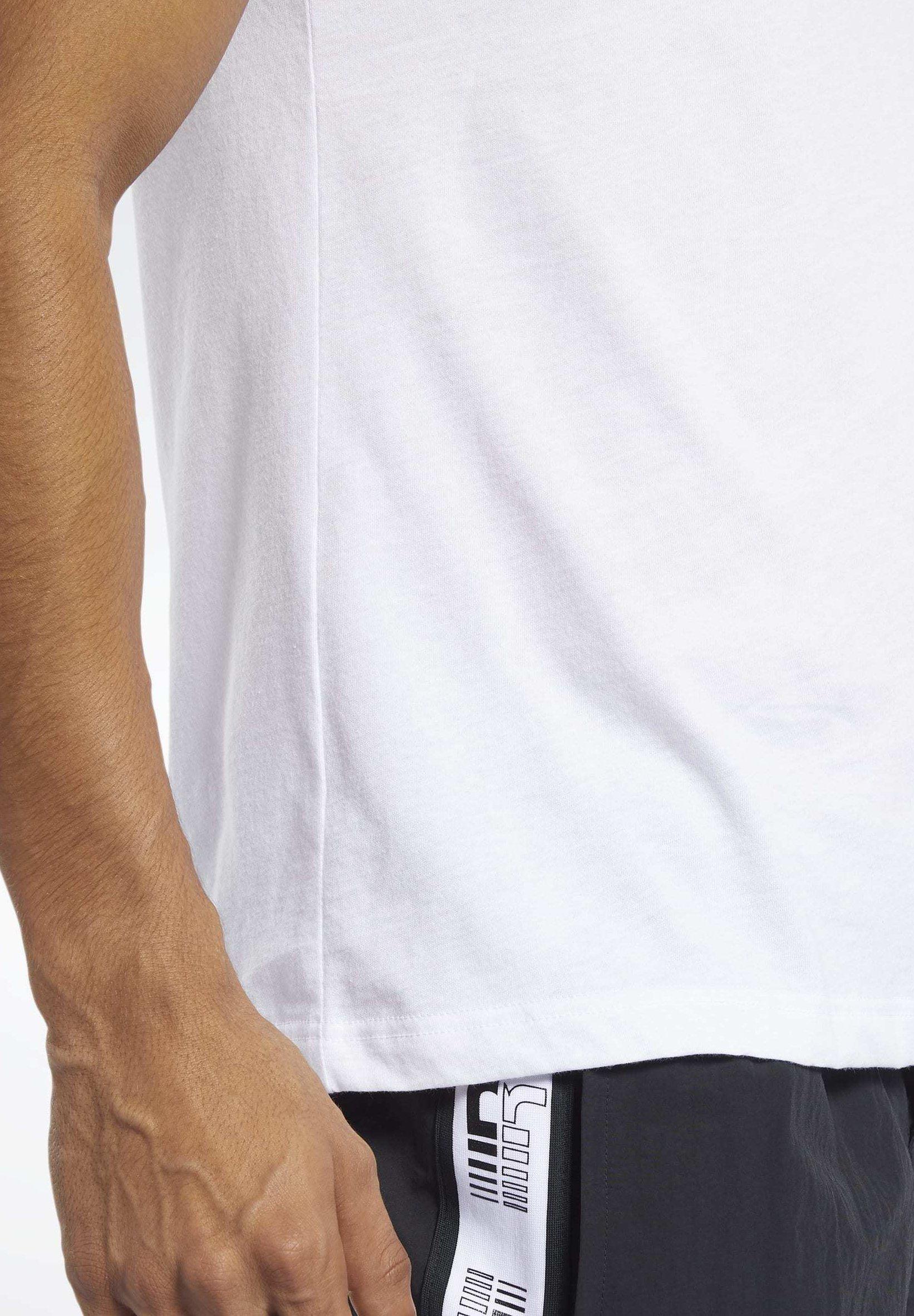 Reebok MEET YOU THERE TEE - T-shirt z nadrukiem - white