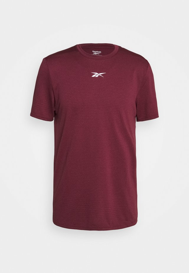 WOR MELANGE TEE - T-shirt print - maroon