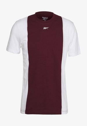 BLOCKED TEE - T-shirt imprimé - maroon