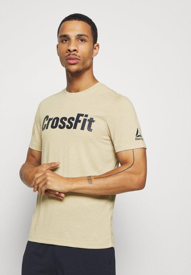 READ TEE - T-shirt med print - beige