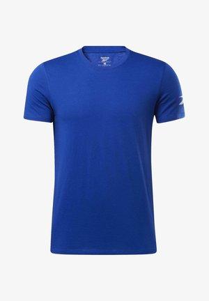 WORKOUT READY JERSEY TECH TEE - T-shirt z nadrukiem - blue