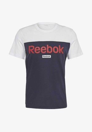 TRAINING ESSENTIALS LINEAR LOGO TEE - T-Shirt print - white