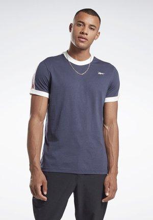 TRAINING ESSENTIALS LINEAR LOGO TEE - T-shirt print - blue