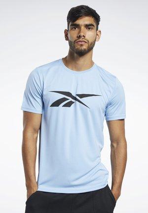 WORKOUT READY TEE - T-shirt print - blue