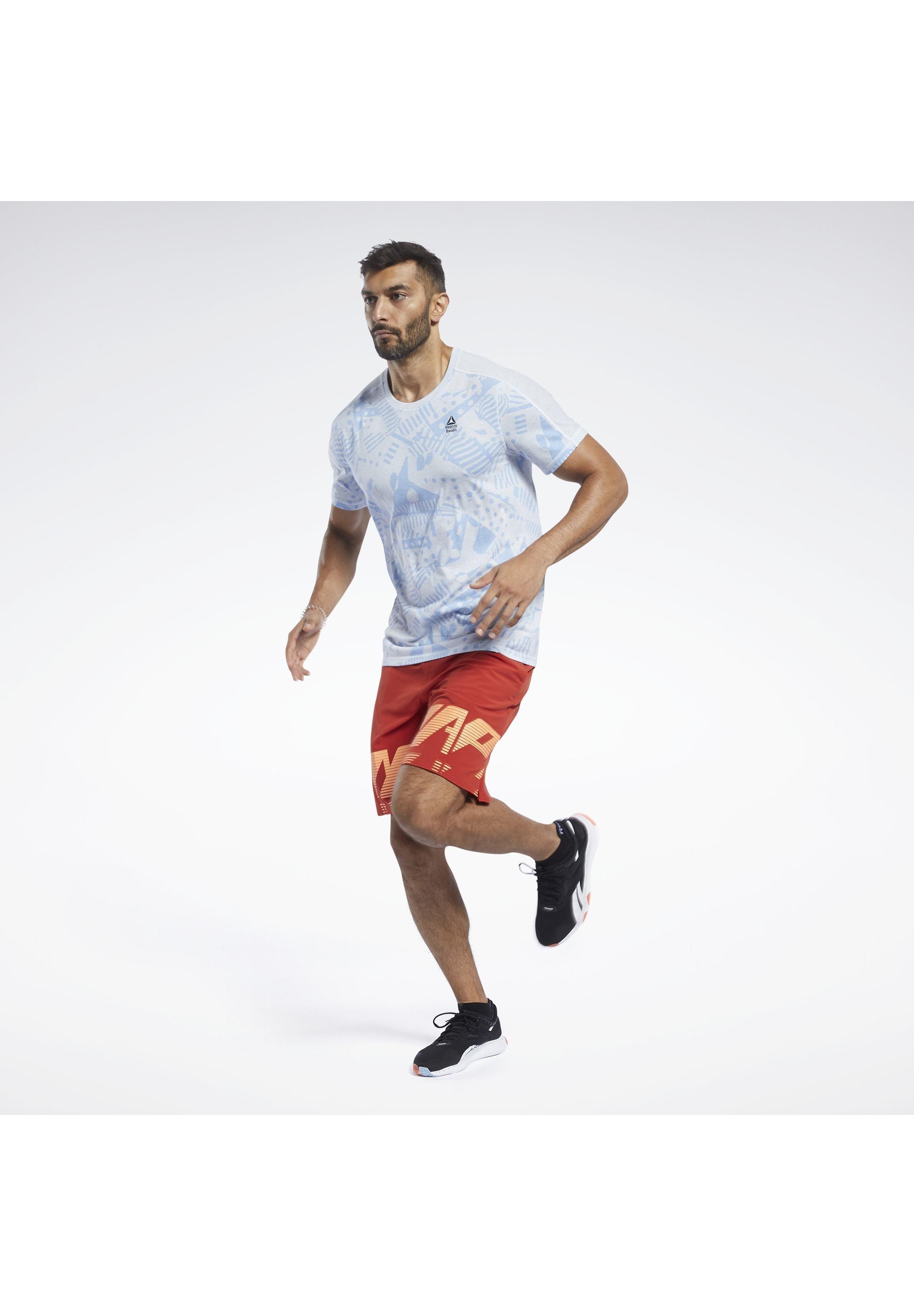 Reebok Move Tee - T-shirt Med Print Blue