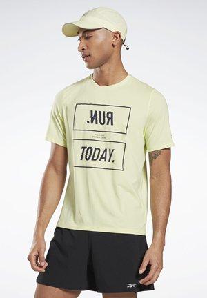 ONE SERIES RUNNING ACTIVCHILL TEE - T-shirt print - yellow