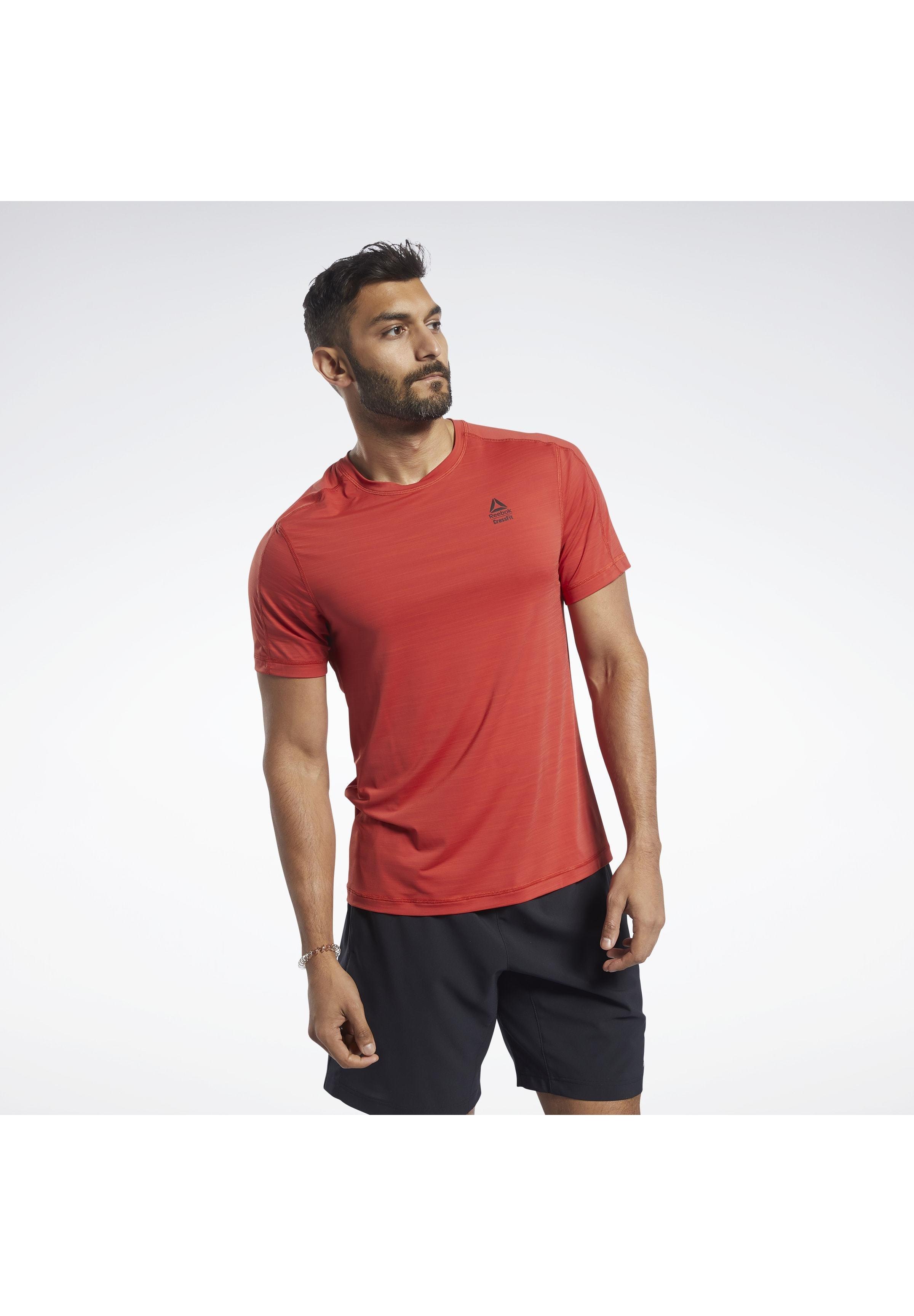 Reebok REEBOK ACTIVCHILL TEE - T-shirt con stampa - red