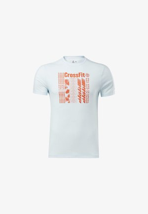 REEBOK  ACTIVCHILL+COTTON TEE - T-shirt imprimé - blue