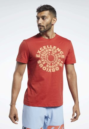 REEBOK® EXCELLENCE TEE - Print T-shirt - red