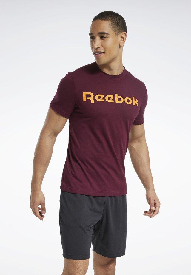 GRAPHIC SERIES LINEAR LOGO TEE - T-shirts print - burgundy