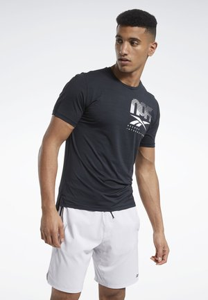 ACTIVCHILL GRAPHIC MOVE T-SHIRT - Print T-shirt - black