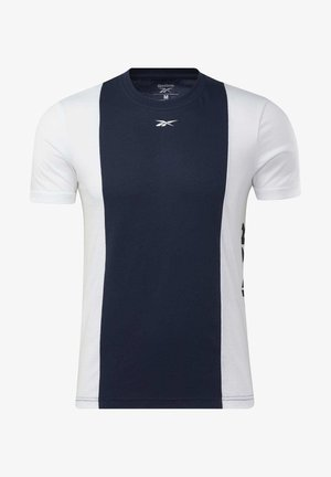 TRAINING ESSENTIALS LINEAR LOGO T-SHIRT - T-shirt imprimé - blue