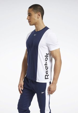 TRAINING ESSENTIALS LINEAR LOGO T-SHIRT - Printtipaita - blue