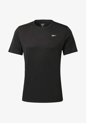 NIGHT RUN SHIRT - T-shirt basic - black