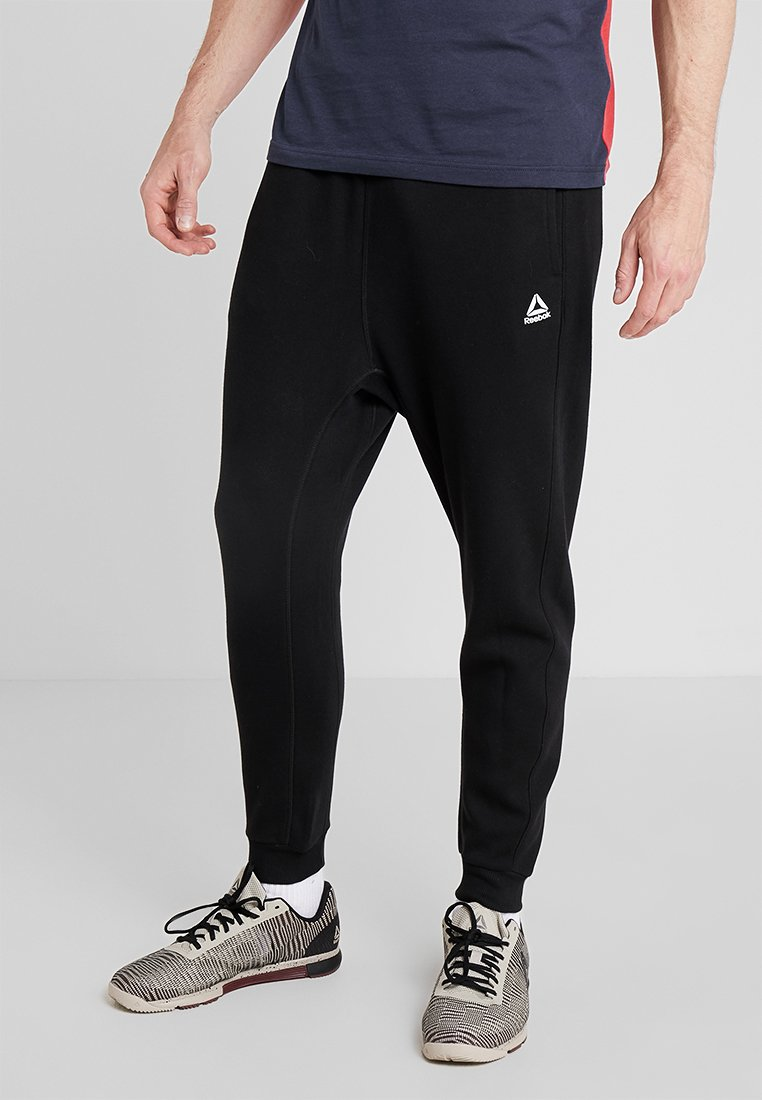 Reebok - TRAINING ESSENTIALS LOGO  - Pantaloni sportivi - black