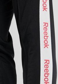 Reebok - TRAINING ESSENTIALS TRACK PANTS - Tracksuit bottoms - black - 5