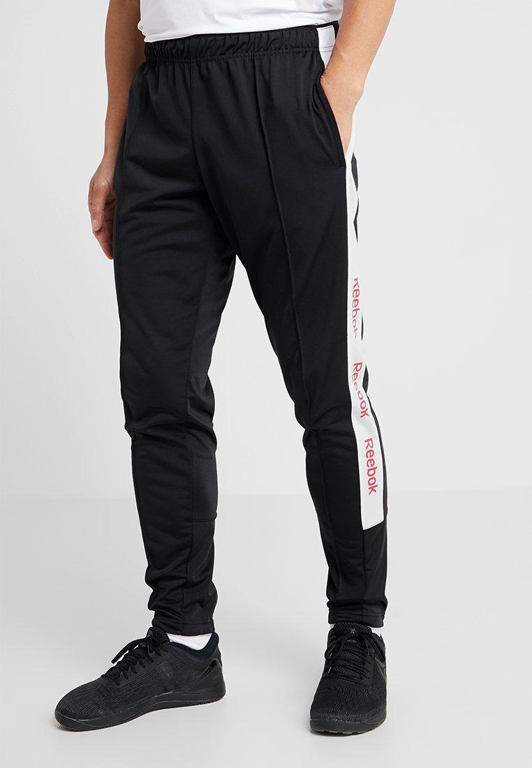 Reebok - TRAINING ESSENTIALS TRACK PANTS - Jogginghose - black