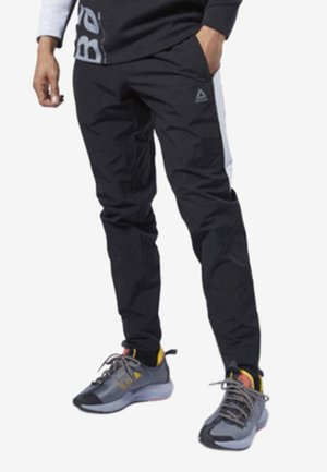 ONE SERIES TRAINING COLORBLOCK PANTS - Spodnie treningowe - black