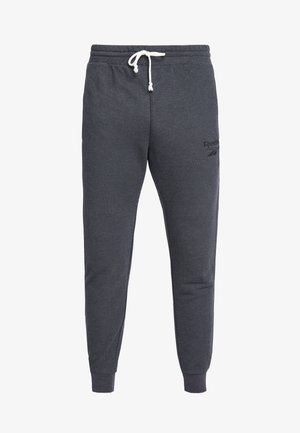 MELANGE PANT - Tracksuit bottoms - black