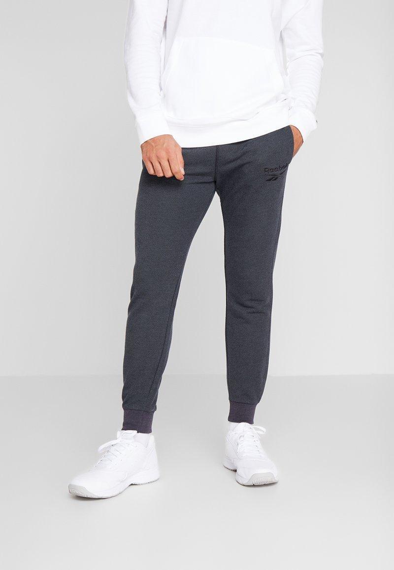 Reebok - MELANGE PANT - Spodnie treningowe - black