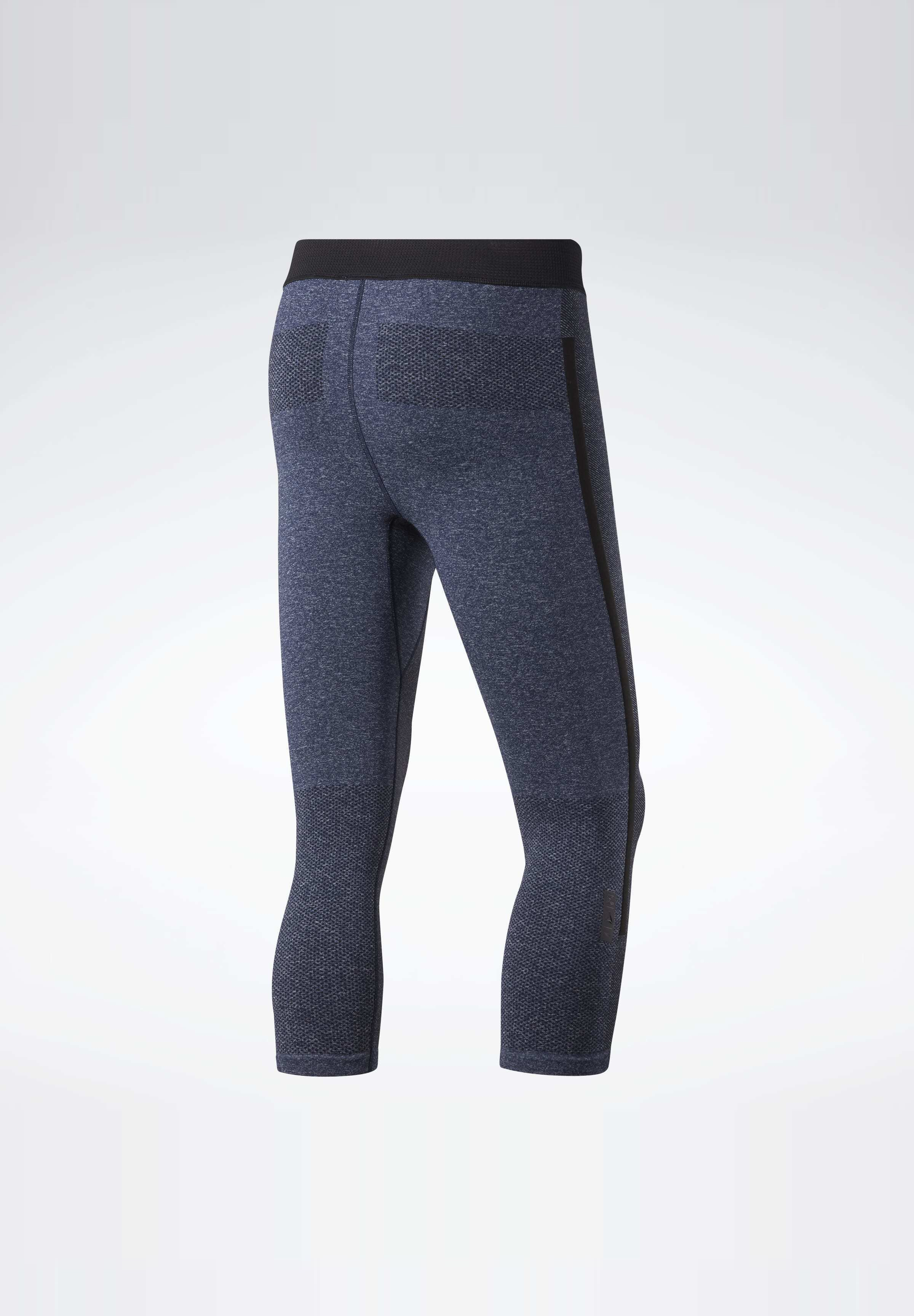 Reebok United By Fitness Myoknit 3/4 Tights - Träningsshorts 3/4-längd Blue