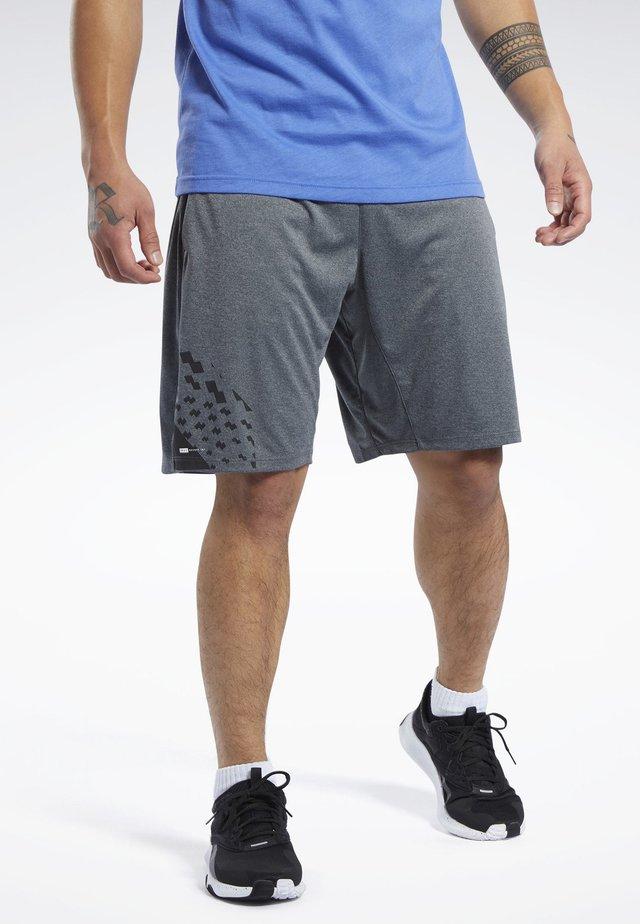 KNIT SHORTS - kurze Sporthose - grey