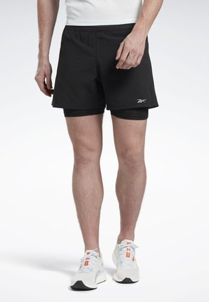 ONE SERIES RUNNING EPIC TWO-IN ONE SHORTS - kurze Sporthose - black