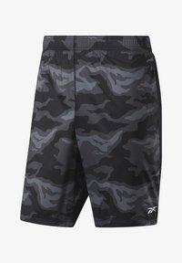 Reebok - WORKOUT READY GRAPHIC SHORTS - Sports shorts - black - 0