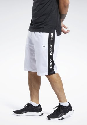 TRAINING ESSENTIALS LINEAR LOGO SHORTS - Short de sport - white