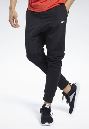 KNIT-WOVEN JOGGERS - Tracksuit bottoms - black