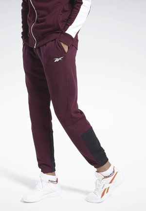 TRAINING ESSENTIALS LINEAR LOGO JOGGERS - Collants - burgundy