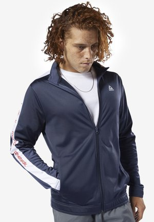 TRAINING ESSENTIALS LINEAR LOGO TRACK JACKET - Träningsjacka - blue