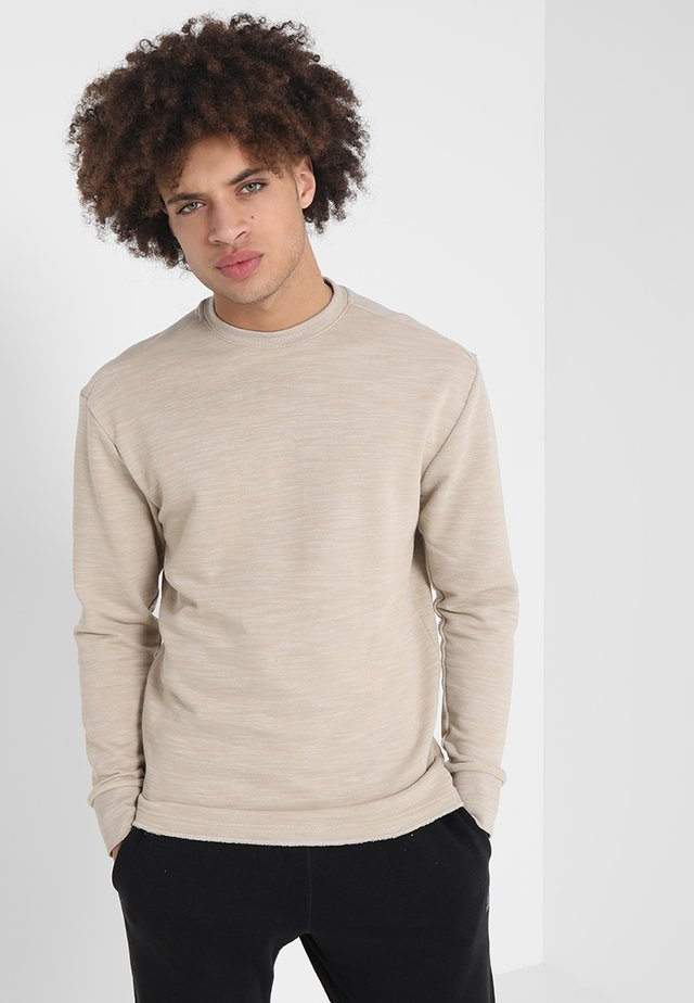 MARBLE GROUP CREW - Sweater - light sand