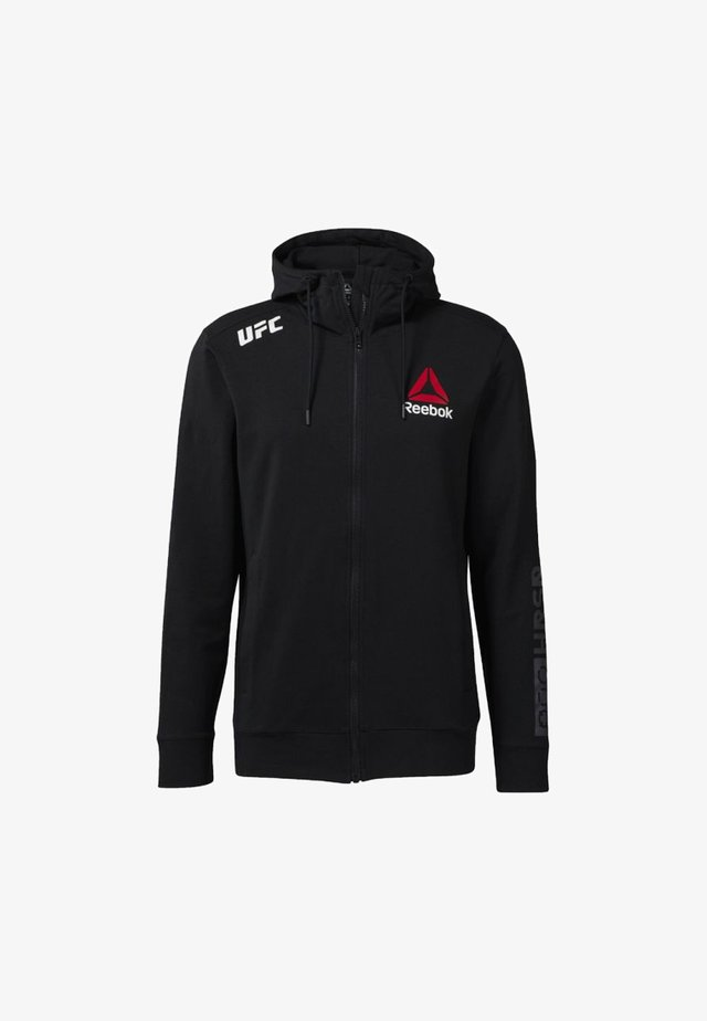 À CAPUCHE UFC FIGHT NIGHT BLANK WALKOUT - veste en sweat zippée - black