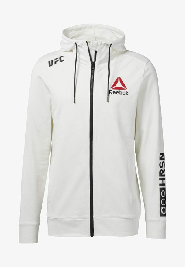 FIGHT NIGHT BLANK WALKOUT - Hoodie met rits - off white/black