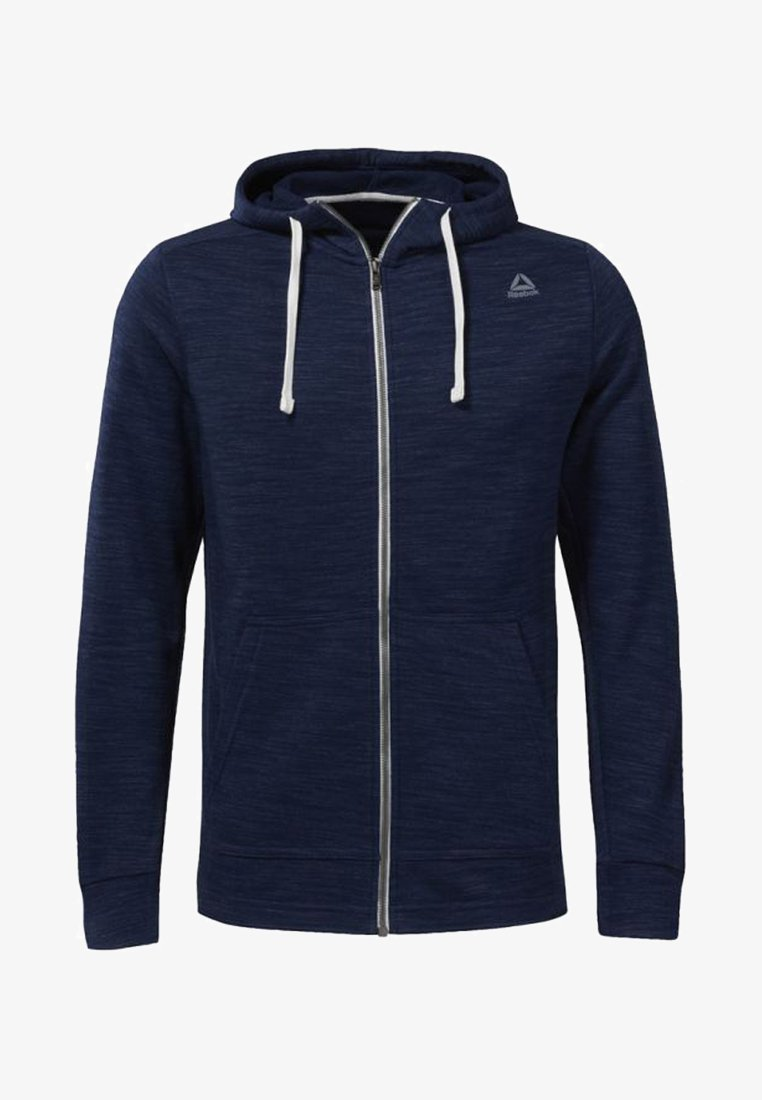 Reebok - TRAINING ESSENTIALS MARBLE GROUP FULL-ZIP HOODIE - Sweatjacke - blue