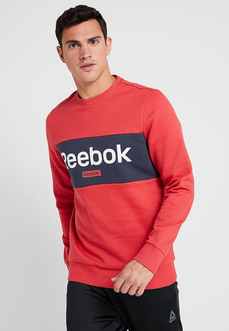 Reebok - TRAINING ESSENTIALS LINEAR LOGO PULLOVER - Sweatshirt - red