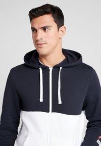 Reebok - HOODIE - veste en sweat zippée - dark blue - 3