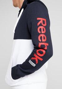 Reebok - HOODIE - veste en sweat zippée - dark blue - 5