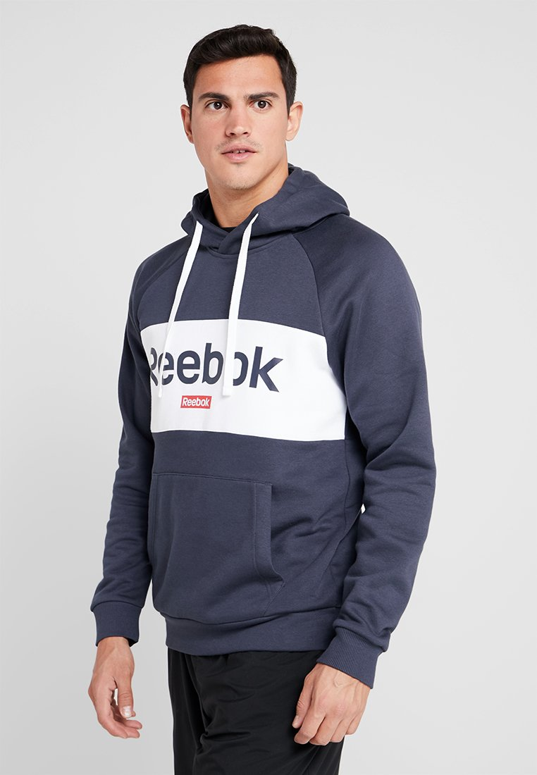 Reebok - TRAINING ESSENTIALS HOODIE - Hoodie - dark blue