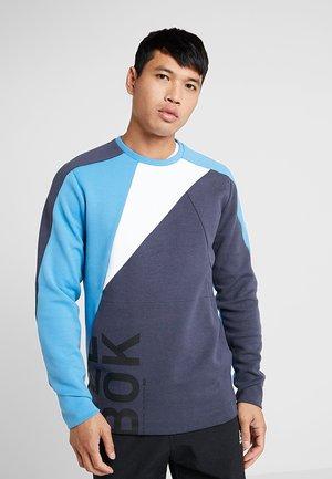 OST BLOCKED CREW NECK - Sweatshirt - dark blue